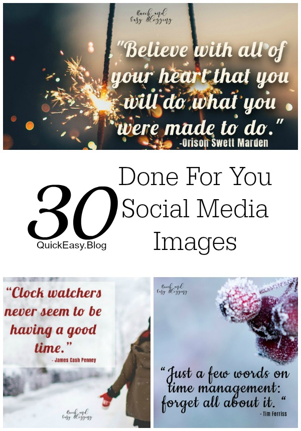 January Done For You Social Media Images at a great price!