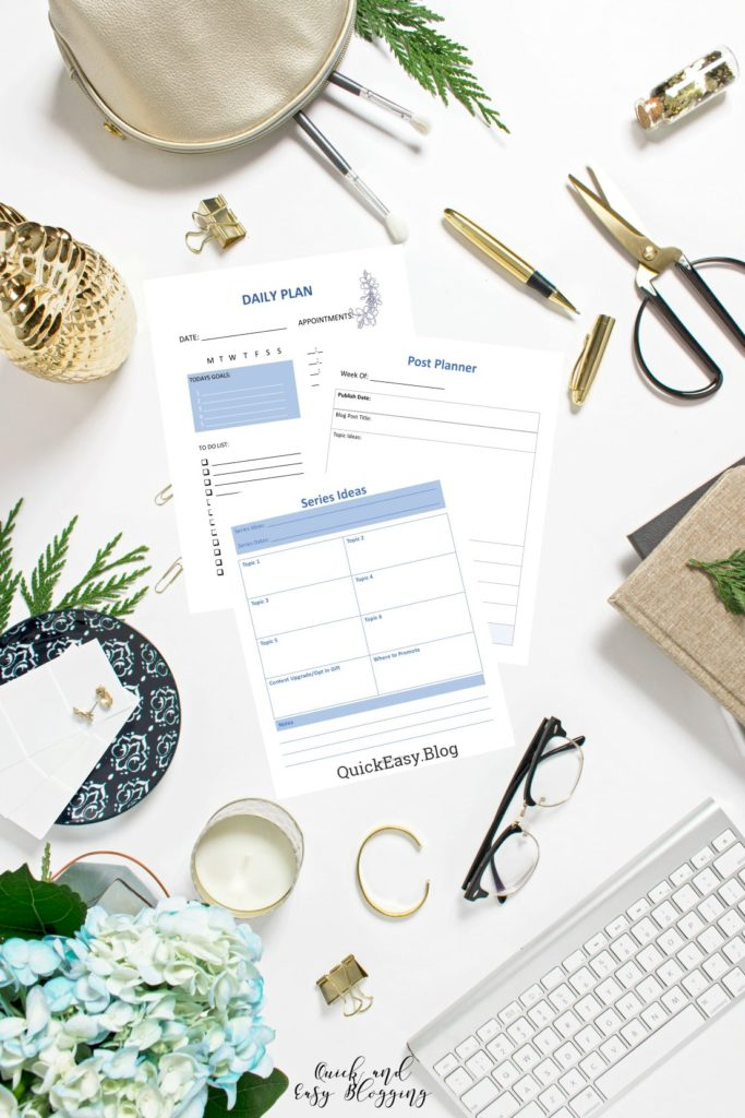 Quick Easy Blogging Blog Planner